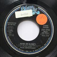 Rock Promo 45 Rick Derringer - Hang On Sloopy / Hang On Sloopy On Blue Sky