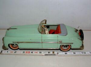 "* 1960s TECHNOFIX KEY WIND-UP TIN-LITHO 10"" LONG CONVERTIBLE CAR"