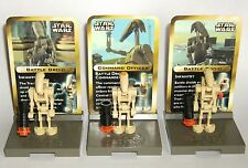 Star Wars Lego Mini Figure Stand Set #3343 Battle Droids ~ Rare