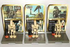 Star Wars Lego Mini Figure Stand Set #3343 Battle Droids ~ Rare