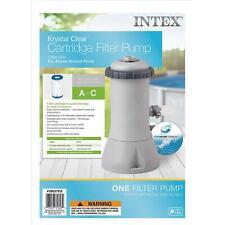 Intex Krystal Clear Cartridge Filter Pump for Above Ground Pools, 1000 Gph