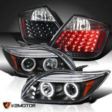 JDM Black 05-10 Scion tC LED DRL Halo Projector Headlights+LED Tail Brake Lamps