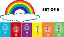 Rainbow Dust ProGel GEL Pasta Colorante Alimentare Sugarcraft Rainbow Set 6 CONF.