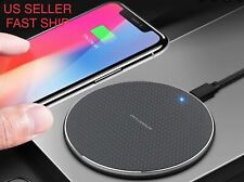 Thin Qi Wireless Charger Charging Pad for iPhone XS/Max/XR/8/Plus Note 9/S10