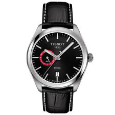 "SALE TISSOT PR100  MEN""S WATCH BLACK DIAL LEATHER STRAP T101.452.16.051.00"
