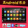 Doppel 2 Din Autoradio DVD GPS Navi 3G WiFi Android 6.0 USB MP3 SD CD Player+Cam