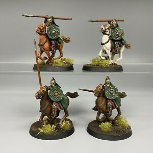 ROHAN ROYAL GUARD KNIGHTS MOUNTED WARHAMMER LORD OF THE RINGS PAINTED & BASED