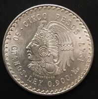 Mexico 5 Pesos 1947 Silver Coin .900 Silver Better Grade Low Mintage!!!!!!!!!!!!