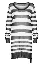 Punk Rave Insanity Striped Sweater Black/White OPM-074 Punk Gothic