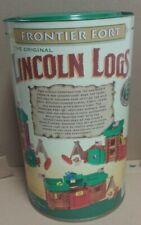 Vintage Lincoln Logs Original Frontier Fort Set 2000 - Complete
