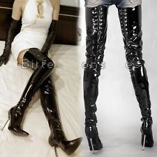 Sexy Womens 12cm Stilettos High Heel Clubwear Party Over Knee Thigh Boots Extra