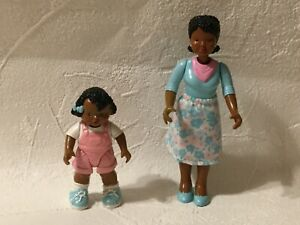 Fisher Price Loving Family Dream Dollhouse African American Girl Pink Doll & Mom