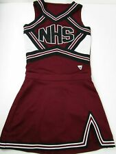 Genuine Real NHS High School Varsity Cheer Cheerleading Uniform Red White Black