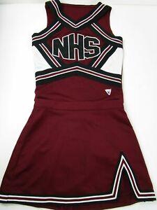 Genuine Real NHS High School Varsity Cheer Cheerleading Uniform Red White Black