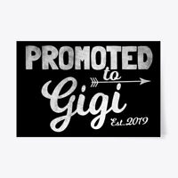 "Machine washable Promoted To Gigi Est. 2019 Gift Poster - Gift Poster - 24""x36"""