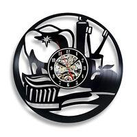 Dental Clinic Wall Clock Stomatology Vinyl Record Sticker Art Dentist Decor