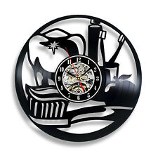 Dental Clinic Wall Clock Stomatology Vinyl Record Sticker Art Dentist Decor