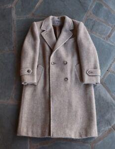 Vintage Evan Picone Tan Tweed Overcoat/Trench Coat Size Large