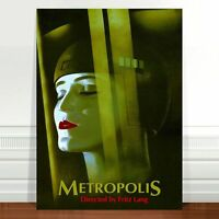"Vintage Movie Poster Art ~ CANVAS PRINT 24x18"" Metropolis Fritz Lang"