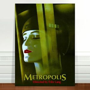 "Vintage Movie Poster Art ~ CANVAS PRINT 24x18"" Metropolis Fritz Lang"