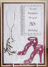 HANDMADE 30th/40th/50th/60th BIRTHDAY CARD FOR DAUGHTER/SISTER/NIECE/MUM/AUNTY
