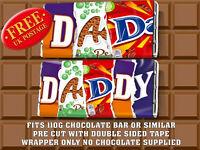 Novelty Birthday CHOCOLATE BAR WRAPPER fit Galaxy 110g FATHER'S DAY DAD DADDY
