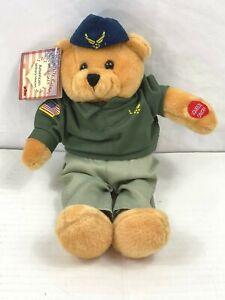 Musical Bear Stuffed Animal Toy Chantilly Lane Wild Blue Yonder Airforce NWT