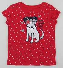 4th of July Toddler Girls Size 2T Tee Shirt Red Polka Dots Dog Jumping Beans NEW