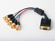 6in VGA to RGBHV Component BNC/RCA Breakout Video Adapter AT19082-ADF