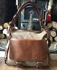 Clarks Large Temple Beam C Bag Brown Combi Suede BROW TAN COLOR, USED RRP 80.00