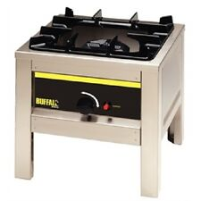 More details for buffalo big flame natural gas hob stainless steel burner - l493  catering