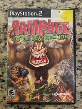 Rampage Total Destruction PS2 PlayStation 2 Complete w/ Case & Manual - Good