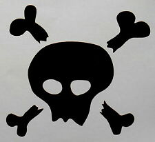 Pirate Skull And Crossed Bones Vinyl Decal Sticker Transfer