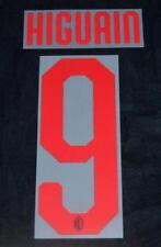 AC Milan Higuain 9 Football Shirt Name/Number Set Kit Away Serie a 2018/19