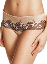 NWOT FRAPE-CAPUCCINO  Wacoal  laced  tanga panties  size  7L style 845256