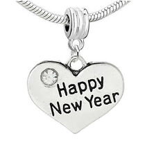 Happy New Year Charm for Snake Chain Charm Bracelets 2732