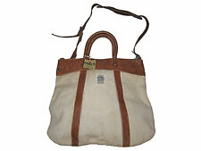 RRL Ralph Lauren Polo Antique Western Crossbody Canvas Leather City Tote Bag