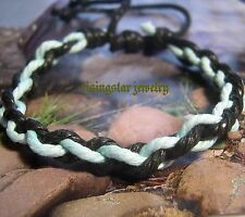Men Handmade Multi-Color Hemp Braided Fashion Surfer Hip Hop Bracelet Wristband