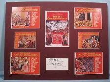 Cecil B. DeMille - Ten Commandments signed by Nina Foch as Bithiah