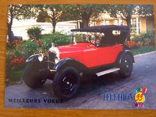 """CITROËN """"Trèfle 5 CV"""" 1924 téléthon 1999 Carte postale Voeux AUTOMOBILE Rétro"""