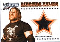 WWE Triple H 2005 Topps Heritage Event Worn T-Shirt Ringside Relic Card Black