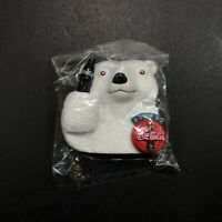 Coca-Cola Polar Bear Refrigerator Magnet VTG New Rubber Collectible 1996 Rare