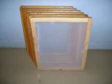 Screen Printing Frames--Box of 6--14 x 17 Wood with 110 White Mesh