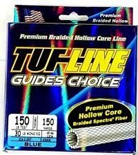 Tuf-line hollow core Braided Line 150lb / 150yrds blue braid leader line fishing