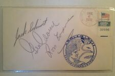 Astronauts Cernan, Evans, and Schmitt NASA Apollo 17 Crew Signed Envelope Cover