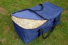 4x Hay Bale Bag Bags Great for Horse Floats  Camping Gear Bag Navy HBN2