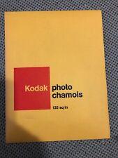 "Vntg Kodak Photo Chamois 11""X13.5"" (135 sq. in.) for Darkroom Printing (W20)"