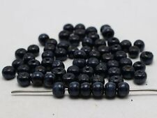 500 Pcs Dark Blue 8mm Round Wood Beads~Wooden Spacer Beads Jewelry Making