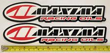 2 Maxima Oils Racing Decals Stickers Offroad Imsa Utv Nhra Drags Ultra4 Atv Sxs