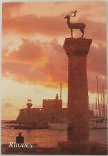 Scenic postcard of the Pillars of Hercules, Rhodes